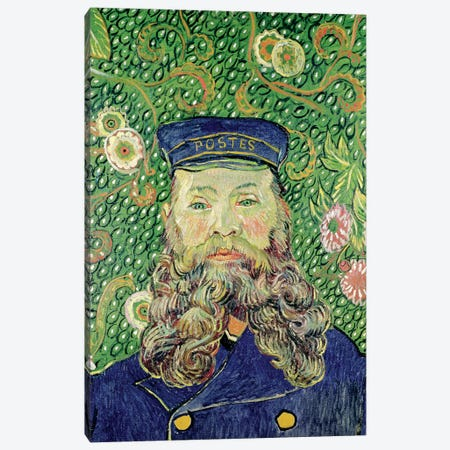 Portrait of the Postman Joseph Roulin, 1889  3-Piece Canvas #BMN2046} by Vincent van Gogh Canvas Art Print