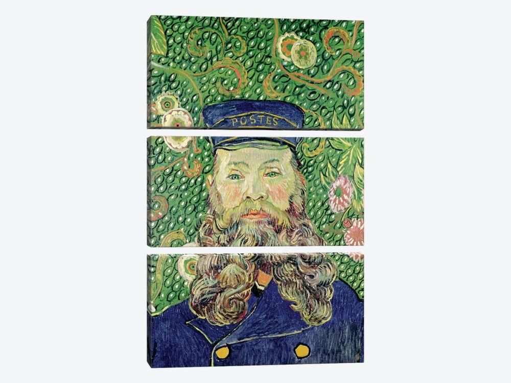 Portrait of the Postman Joseph Roulin, 1889  by Vincent van Gogh 3-piece Canvas Print