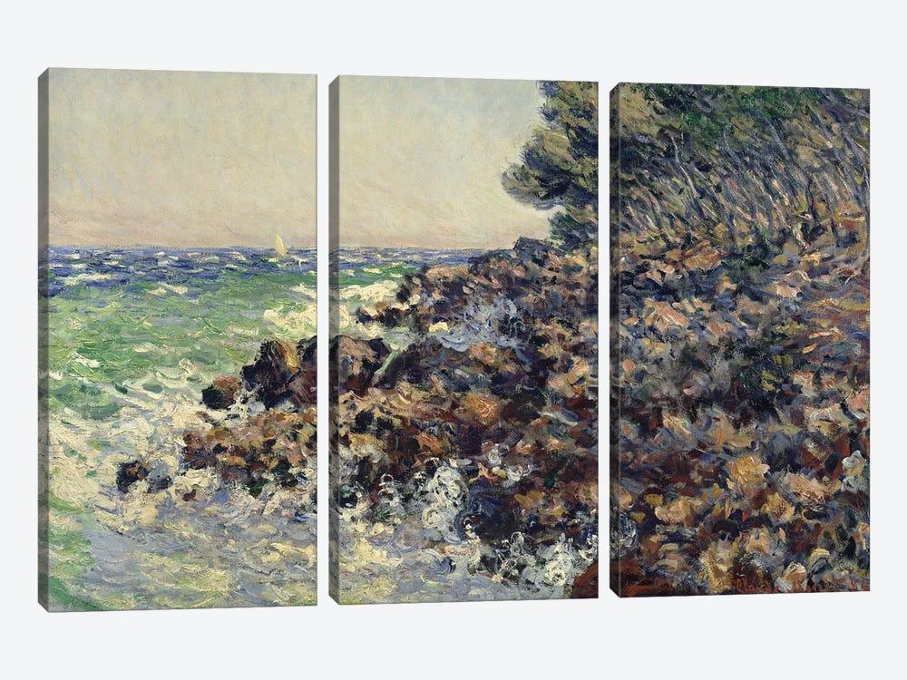 Cap Martin, 1884  by Claude Monet 3-piece Canvas Wall Art