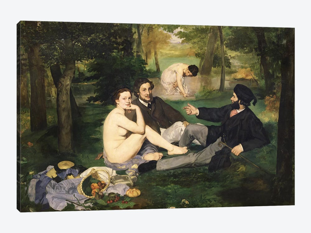 Le Déjeuner sur l'herbe (Luncheon On The Grass), 1863   by Edouard Manet 1-piece Canvas Artwork