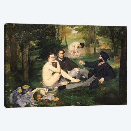 Le Déjeuner sur l'herbe (Luncheon On The Grass), 1863   Canvas Print #BMN204} by Edouard Manet Canvas Print