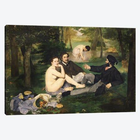 Le Déjeuner sur l'herbe (Luncheon On The Grass), 1863   Canvas Print #BMN204} by Edouard Manet Canvas Print