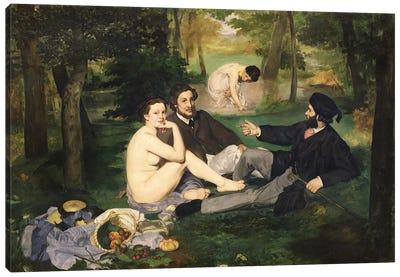Le Déjeuner sur l'herbe (Luncheon On The Grass), 1863   Canvas Art Print
