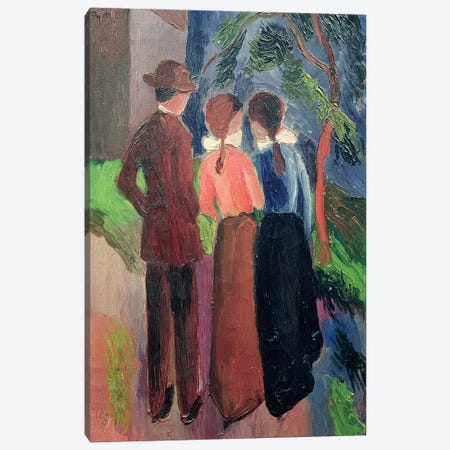 The Walk, 1914  Canvas Print #BMN2050} by August Macke Canvas Print