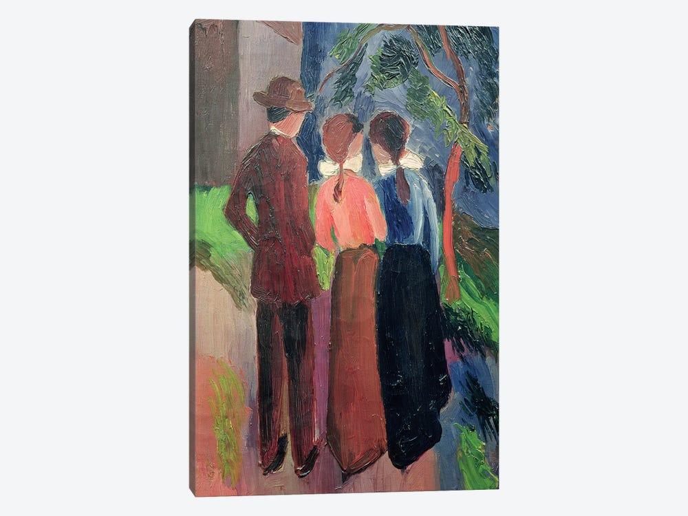 The Walk, 1914  by August Macke 1-piece Canvas Artwork