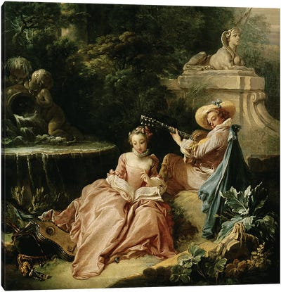 The Music Lesson, 1749  Canvas Art Print