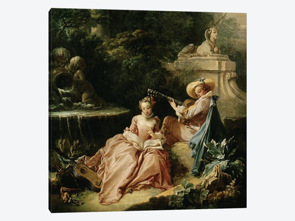 The Music Lesson, 1749  by Francois Boucher 1-piece Canvas Print