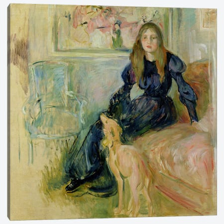 Julie Manet  Canvas Print #BMN2052} by Berthe Morisot Art Print