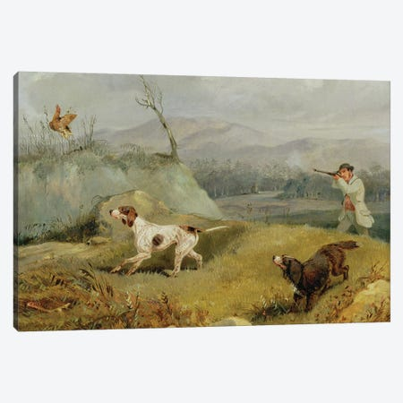 Grouse Shooting  Canvas Print #BMN2053} by Henry Thomas Alken Art Print