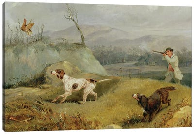 Grouse Shooting  Canvas Art Print