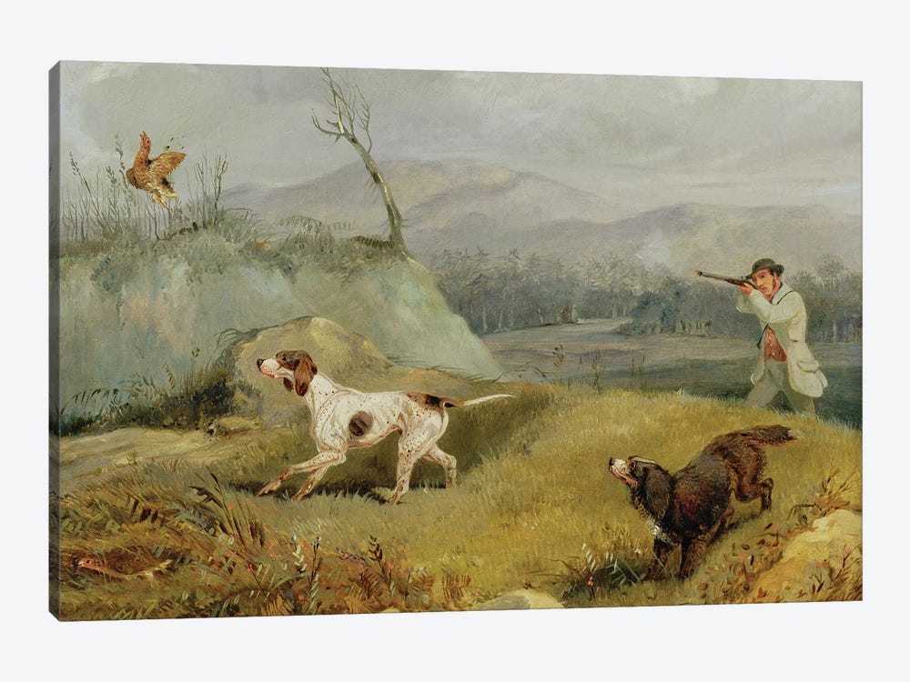 Grouse Shooting  by Henry Thomas Alken 1-piece Canvas Art Print