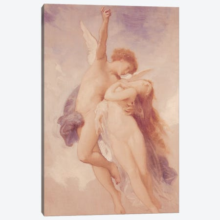Cupid and Psyche, 1889  Canvas Print #BMN2054} by William-Adolphe Bouguereau Canvas Artwork
