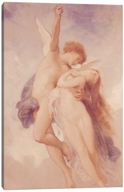 Cupid and Psyche, 1889  Canvas Art Print