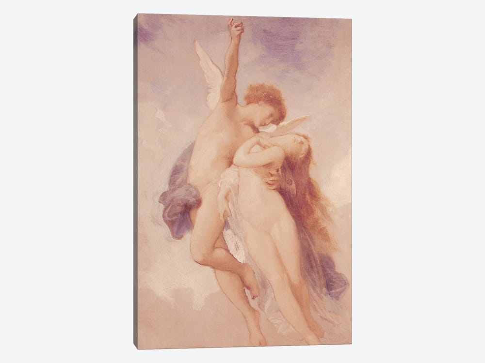 Cupid and Psyche, 1889  by William-Adolphe Bouguereau 1-piece Canvas Wall Art