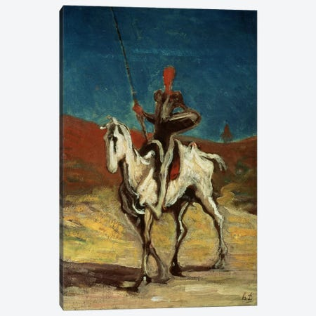 Don Quixote, c.1865-1870  Canvas Print #BMN2058} by Honore Daumier Art Print