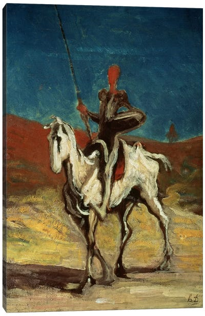 Don Quixote, c.1865-1870 Canvas Art Print