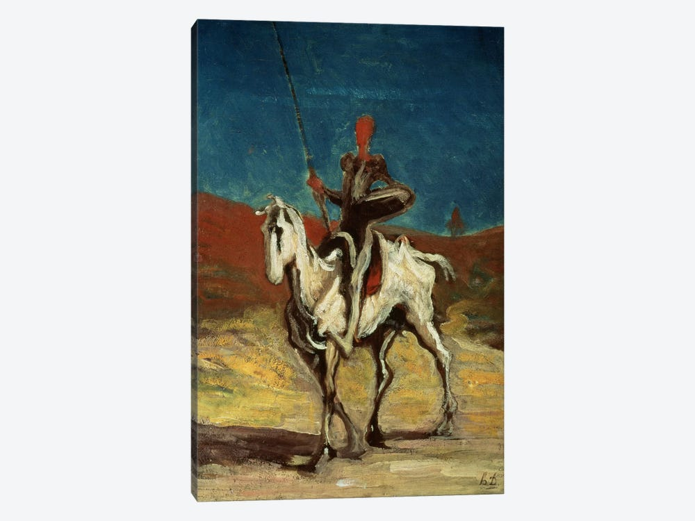 Don Quixote, c.1865-1870  by Honore Daumier 1-piece Canvas Art