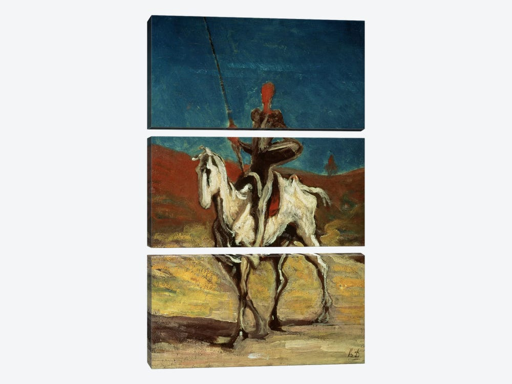 Don Quixote, c.1865-1870  by Honore Daumier 3-piece Canvas Art
