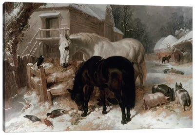 Farmyard Scene Canvas Art Print