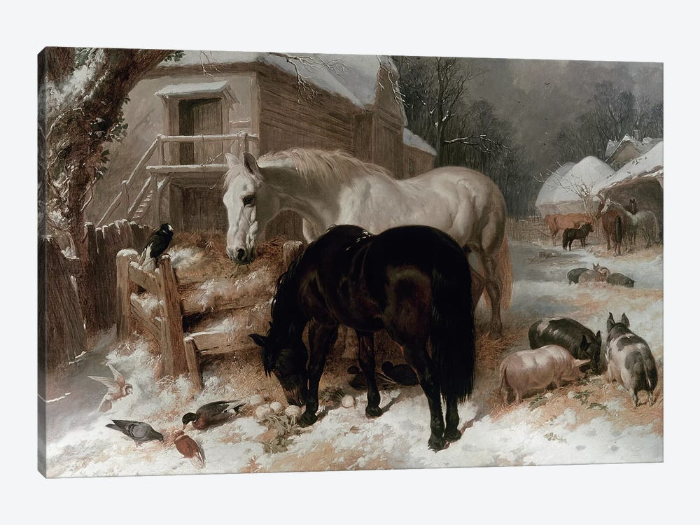 Farmyard Scene by John Frederick Herring Sr 1-piece Canvas Art Print