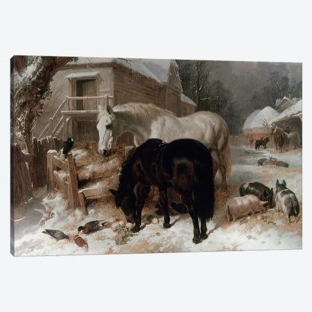 Farmyard Scene Canvas Print #BMN205} by John Frederick Herring Sr Art Print