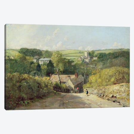 A View of Osmington Village with the Church and Vicarage, 1816  Canvas Print #BMN2063} by John Constable Canvas Wall Art