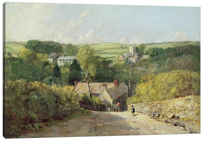 A View of Osmington Village with the Church and Vicarage, 1816  Canvas Art Print