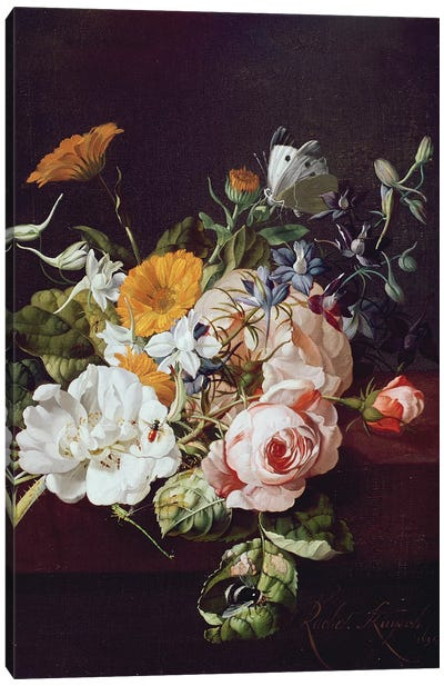 Vase of Flowers, 1695 Canvas Art Print