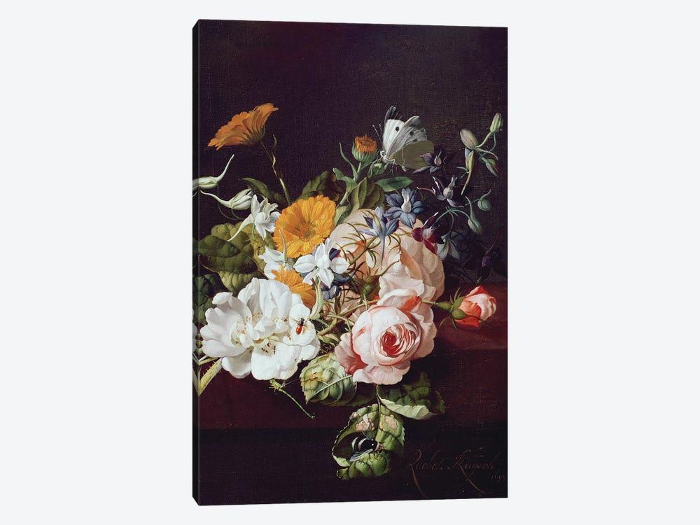 Vase of Flowers, 1695 by Rachel Ruysch 1-piece Canvas Art