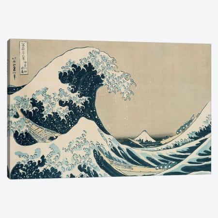 The Great Wave of Kanagawa, from the series '36 Views of Mt. Fuji'  Canvas Print #BMN2075} by Katsushika Hokusai Canvas Wall Art