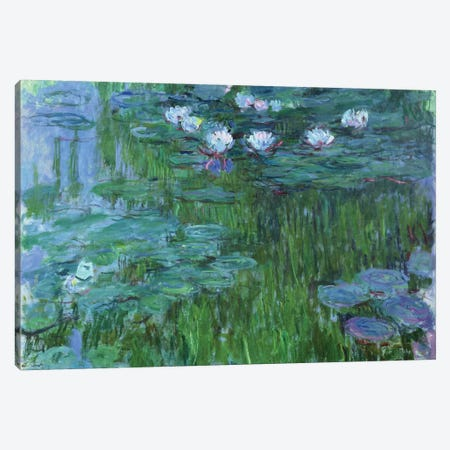 Waterlilies, 1914-17  Canvas Print #BMN2079} by Claude Monet Canvas Print
