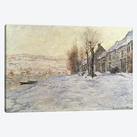 Lavacourt under Snow, c.1878-81  Canvas Print #BMN207} by Claude Monet Canvas Print