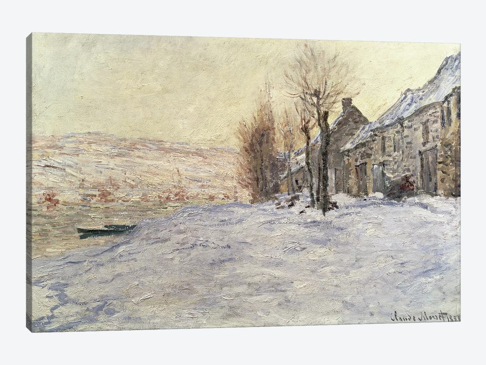 Lavacourt under Snow, c.1878-81  by Claude Monet 1-piece Canvas Art Print