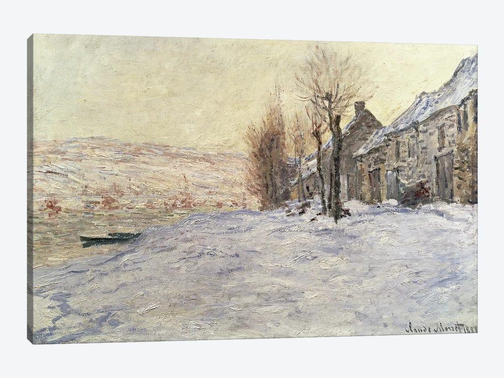 Lavacourt under Snow, c.1878-81  by Claude Monet 1-piece Canvas Art Print