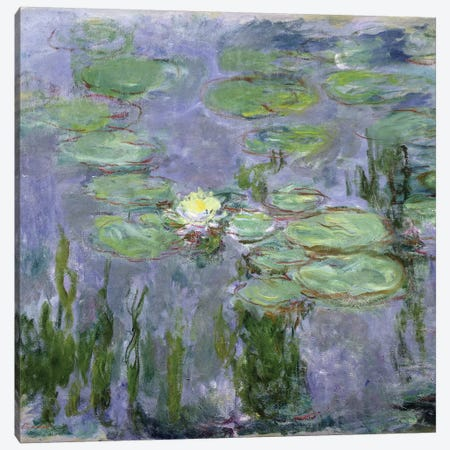 Waterlilies, 1915  Canvas Print #BMN2080} by Claude Monet Canvas Artwork