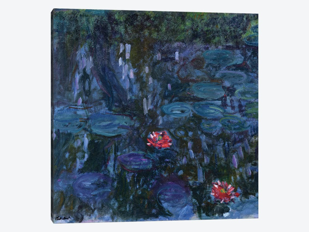 Waterlilies with Reflections of a Willow Tree, 1916-19  by Claude Monet 1-piece Canvas Art