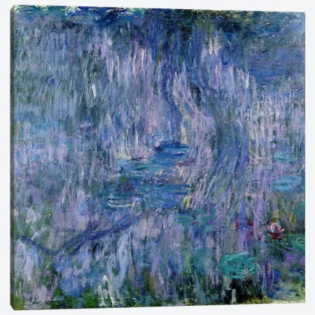 Waterlilies and Reflections of a Willow Tree, 1916-19  Canvas Print #BMN2084} by Claude Monet Canvas Print