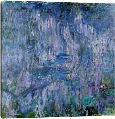 Waterlilies and Reflections of a Willow Tree, 1916-19  Canvas Print #BMN2084