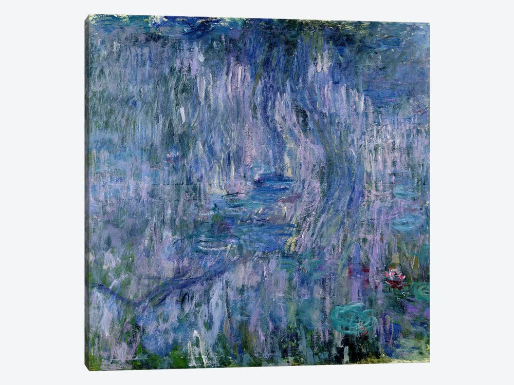 Waterlilies and Reflections of a Willow Tree, 1916-19  by Claude Monet 1-piece Canvas Print