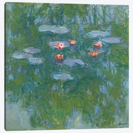 Waterlilies, 1916-19  Canvas Print #BMN2085} by Claude Monet Canvas Print