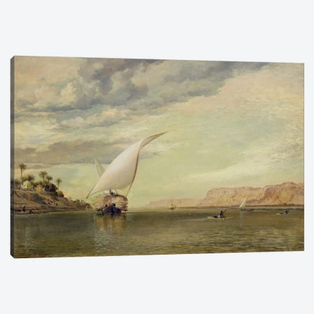 On the Nile  Canvas Print #BMN2090} by Edward William Cooke Canvas Art Print