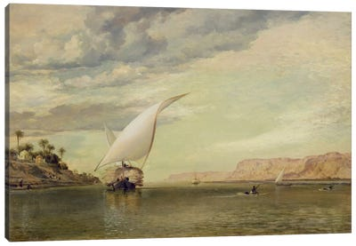 On the Nile Canvas Art Print
