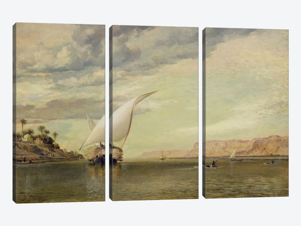 On the Nile  by Edward William Cooke 3-piece Canvas Art