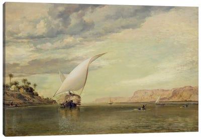 On the Nile  Canvas Art Print