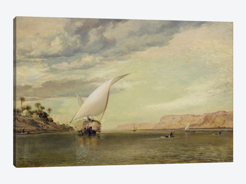 On the Nile  by Edward William Cooke 1-piece Canvas Wall Art