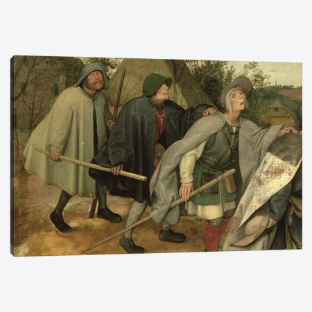 Parable of the Blind, detail of three blind men, 1568   Canvas Print #BMN2092} by Pieter Brueghel the Elder Canvas Print