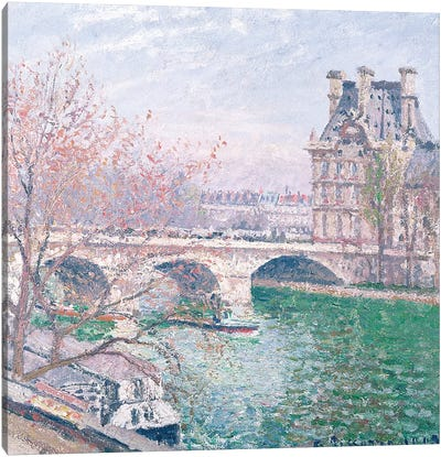 The Pont-Royal and the Pavillon de Flore, 1903  Canvas Art Print