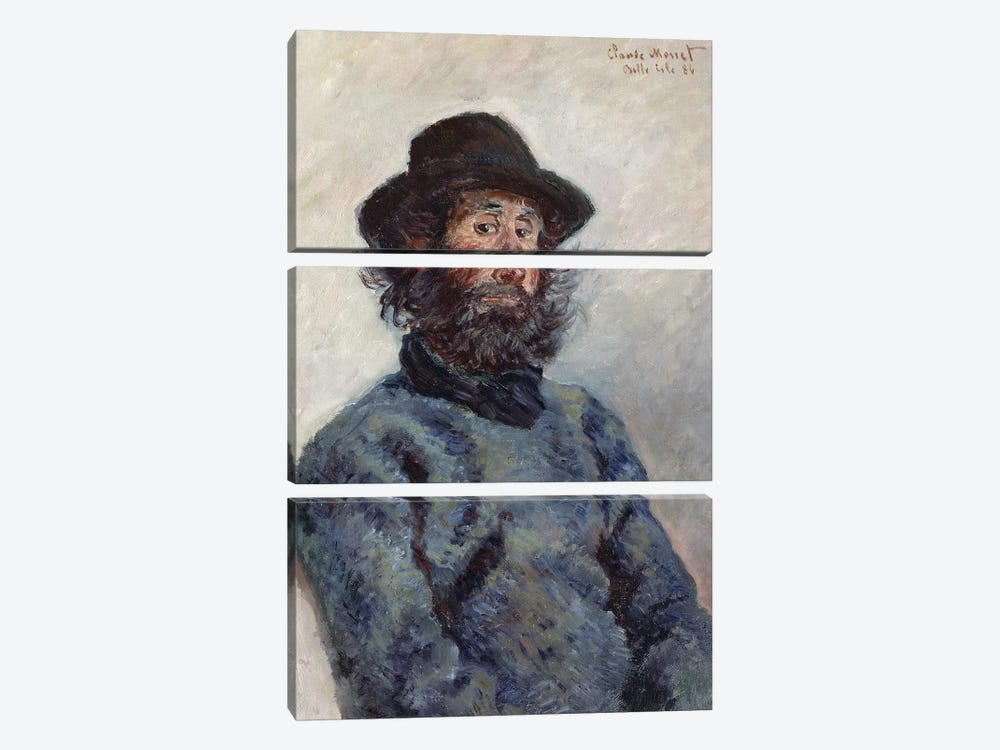 Poly, Fisherman at Belle-Ile, 1886  by Claude Monet 3-piece Canvas Wall Art