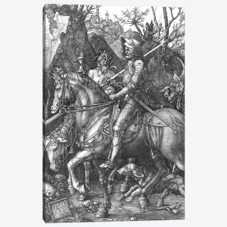 Knight, Death and the Devil, 1513  Canvas Print #BMN2099} by Albrecht Dürer Art Print