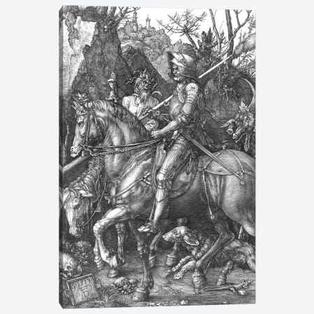 Knight, Death and the Devil, 1513  3-Piece Canvas #BMN2099} by Albrecht Dürer Art Print